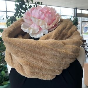 NWT Camel Infinity scarves winter cozy neutral